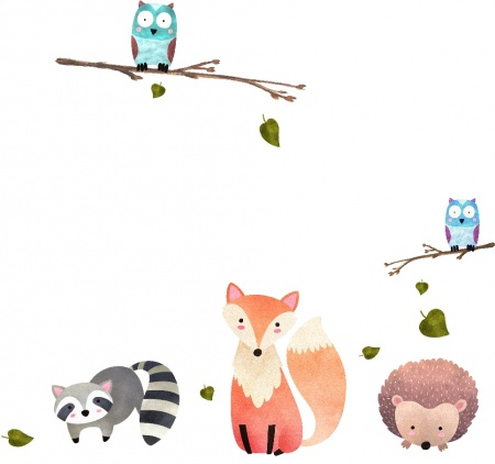 watercolor-forest-animals1